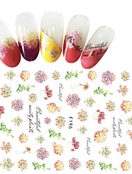 1pcs Fashion Beautiful Flower Design Fresh Style Nail Art 3D Stickers F196