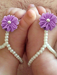 Kids Baby Pearl Shoes DIY Handmade baby's Foot Chain Red/Yellow/Blue/Purple/Pink/Fuchsia/Orange