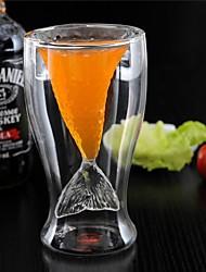 Novidade cristal sereia copo vidro caneca vodka tiro beber parede dupla resistente ao calor bar partido copo presente