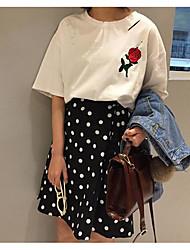 Women's Above Knee Skirts,Simple A Line Polka Dots Polka Dot