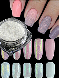 1 Bottle New Fashion Sweet Style Candy Colors Nail Art DIY Glitter Sugar Coating Powder Holographic Pigment Manicure Beauty Shining Decoration TY01-05