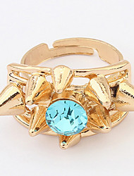 Euramerican Rhinestone Gold Turkish Women's Party Cuff Ring Statement Jewelry