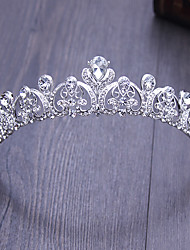 Perno de pelo al aire libre de las tiaras de la ocasión especial de la cabeza-boda de la aleación del rhinestone 1 pedazo