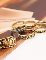Ring Jewelry Euramerican Fashion Personalized Chrome Jewelry Gold Rings For Daily Casual Outdoor 1 Set Wedding Gifts