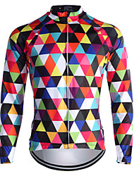 Sports Cycling Jersey Men's Long Sleeve Thermal / Warm / Windproof Bike Tops Fleece Classic Winter Cycling/Bike