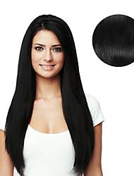 9pcs / set de luxe 120g # 1 clip noir et noir dans les extensions de cheveux 16 pouces 20 pouces 100% cheveux humains