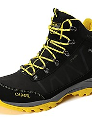 Camel Men's Outdoor Couple Anti-Skidding Lace-up Gray Black Hiking Shoes Color Black/Gray