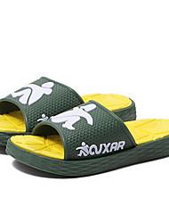 Pantoufles pour homme&Flip-flops printemps confort caoutchouc occasionnel bleu vert gris