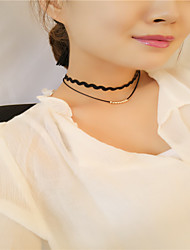Women's Choker Necklaces Jewelry Jewelry Alloy Basic Euramerican Fashion Personalized Simple Style Gold Jewelry ForBusiness Daily Casual
