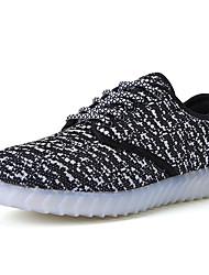 Herren Sneaker Komfort Leuchtende LED-Schuhe Tüll Normal Flacher Absatz Schwarz Grau Rot Königsblau Flach