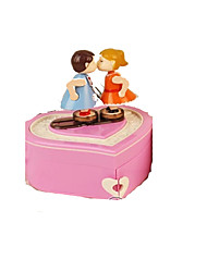 Music Box Heart-Shaped Leisure Hobby Plastic Female Girls´