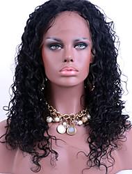 Parrucche complete del merletto pieno nero scuro del merletto parrucche verdi del merletto 100% brasiliano del merletto per la donna nera