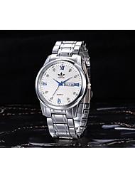 Men's Fashion Watch Quartz Alloy Band Silver Silver/Blue White/Gold Black/Silver Silver/Black