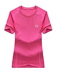Homme Tee-shirt Camping / Randonnée Chasse Respirable Séchage rapide Perméabilité à l'humidité Eté Gris Vert Kaki Pêche