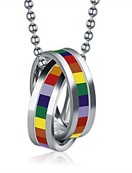 Men's Pendant Necklaces Jewelry Round Stainless Steel Circular Jewelry For Daily