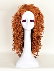 Cosplay Wigs Free Shipping 25.59 Inch Women'S Synthetic Hair Long Orange Curly Anime Movie Brave MERIDA