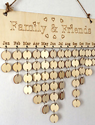 Manufacturer direct sales wooden family and friends birthday hang wooden household adornment calendar is listed