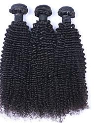 Cabelo Humano Ondulado Cabelo Peruviano Encaracolado 12 meses 3 Peças tece cabelo