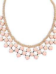 Women's Statement Necklaces Round Acrylic Alloy Tassel Euramerican Fashion Jewelry 1pc
