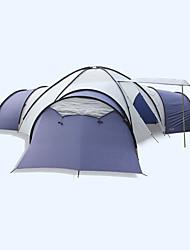 LYTOP/飞拓 > 8 pessoas Tenda Duplo Tenda Dobrada Quatro Quartos Barraca de acampamento Fibra de Vidro OxfordProva de Água