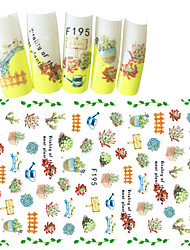 1pcs Fashion Fresh Style Design Warmth Garden Decoration Nail Art 3D Stickers F195