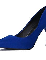 Feminino-Saltos-Sapatos clube Sapatos formais-Salto Agulha--Camurça-Ar-Livre Escritório & Trabalho Casual