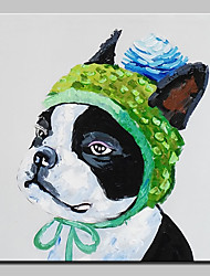 Hand-Painted Modern Abstract Dog Animal Oil Painting On Canvas Wall Art Picture For Home Decoration Ready To Hang