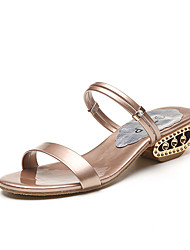Women's Sandals Spring Summer Club Shoes Comfort Dress Casual Block Heel Multi-way All Match Fashion Champagne Sliver Black Gold