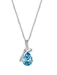 lureme® Women's Pendant Necklaces Crystal Taper Shape Crystal AlloyUnique Design Dangling Style Punk Hypoallergenic Victorian Multi-ways Wear