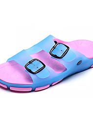 Feminino-Chinelos e flip-flops-Conforto-Rasteiro--PVC-Casual