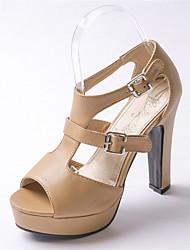 Femme-Mariage Extérieure Habillé Décontracté-Blanc Noir Amande-Gros Talon-Confort Nouveauté Flower Girl Chaussures club de Chaussures-