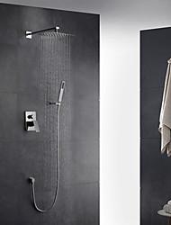 Contemporáneo Arte Decorativa/Retro Modern Colocado en la Pared Ducha lluvia Alcachofa incluida Espray de Desmontable with  Válvula Latón