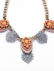 Femme Colliers chaînes Cristal Mode Adorable Personnalisé Le style mignon euroaméricains Orange Bijoux Pour Mariage Soirée 1pc