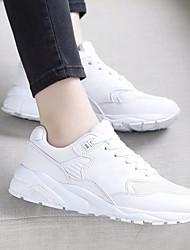 Damen-Sneakers Frühling Komfort PU lässig dunkelgrau grau weiß