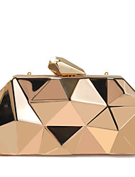 Women Bags All Seasons PU Evening Bag with Metallic for Wedding Event/Party Casual Sports Formal Outdoor Office & Career Gold Silver