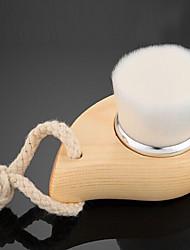 1pc מברשת אחרת שיער סינטטי אחרים נייד עץ פנים