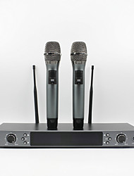 Professional Top Quality Double Handheld Wireless Microphone UHF Vocal Microfone System Band 740MHz-790MHz