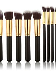 10pcsContour Brush Sistemas de cepillo Cepillo para Colorete Pincel para Sombra de Ojos Cepillo de Cejas Cepillo Corrector Cepillo para