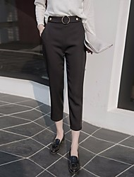 Women's High Rise strenchy Chinos Pants,Street chic Slim Solid