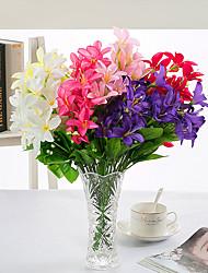 1 Une succursale Polyester Lis Fleur de Table Fleurs artificielles