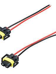 H11 / h8 farol / luz de nevoeiro fêmea adaptador cablagem tomada conector de fio
