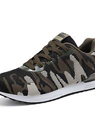 Unisex-Sneakers-Tempo libero Casual Sportivo-Comoda Suole leggere pattini delle coppie-Basso-Tulle-Verde militare