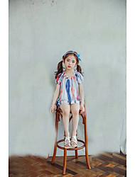 Stripe Blouse,Cotton Summer Sleeveless