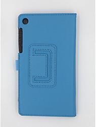 Funda de piel de lichi original 7 pulgadas para lenovo tab3 730f / tab3 730m con soporte cala