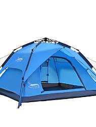 3-4 Personen Zelt Doppel Automatisches Zelt Einzimmer Camping Zelt 2000-3000 mm Oxford Wasserdicht-Camping-Blau