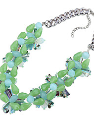 Women's Strands Necklaces Chrome Unique Design Euramerican Personalized Light Green Jewelry For Wedding Party Congratulations 1pc