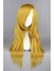 Mujer Pelucas sintéticas Sin Tapa Medio Liso Castaño dorado Peluca de cosplay Las pelucas del traje