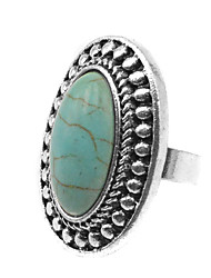 Toonykelly® Vintage Look Antique Silver Turquoise Stone Elephant Animal Ring (1pc)