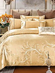 4 pièces robe style jacquard noblesse haute qualité soie literie couette housse de couette