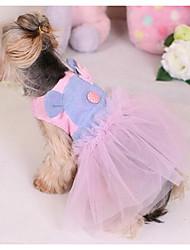 Cachorro Vestidos Roupas para Cães Casual Fashion Princesa Roxo Rosa claro